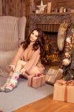 Vrolijke Kerstmis, nieuw jaar Stock Foto