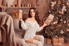 Vrolijke Kerstmis, nieuw jaar Stock Afbeelding
