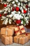 Vrolijke Kerstmis, nieuw jaar Royalty-vrije Stock Foto