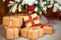 Vrolijke Kerstmis, nieuw jaar Royalty-vrije Stock Afbeelding