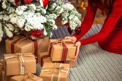 Vrolijke Kerstmis, nieuw jaar Stock Fotografie