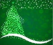 Vrolijke Kerstmis op groen achtergrond en licht vector illustratie