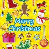Vrolijke Kerstmis rond Naadloze Pattern_eps Royalty-vrije Stock Afbeelding