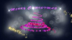 Vrolijke Kerstmis spiraalvormige animatie vector illustratie