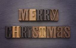 Vrolijke Kerstmis in Typereeks Stock Foto's