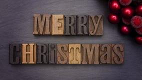 Vrolijke Kerstmis in Typereeks Stock Foto