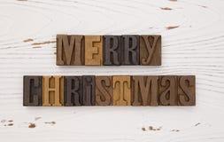 Vrolijke Kerstmis in Typereeks Royalty-vrije Stock Afbeeldingen