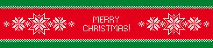 Vrolijke Kerstmis Vakantieornament Stock Foto's