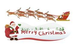 Vrolijke Kerstmis van de Kerstman vector illustratie