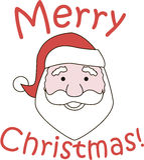 Vrolijke Kerstmis van de Kerstman Royalty-vrije Stock Foto's