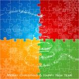 Kleuren vrolijke Kerstmis Stock Afbeelding