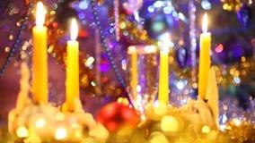 Vrolijke Kerstmis van de kunst en gelukkig nieuw jaar stock video