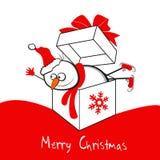 Vrolijke Kerstmis van de sneeuwman Royalty-vrije Stock Afbeelding