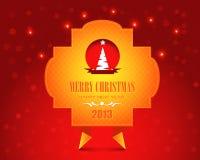 Vrolijke Kerstmis van de Stijl van de origami en Gelukkig Nieuwjaar Vector Illustratie