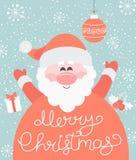 Vrolijke Kerstmis van Kerstman Stock Foto