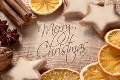 Vrolijke Kerstmis van Kerstmisgroeten Stock Afbeelding