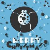 Vrolijke Kerstmis van kikkerwensen Stock Afbeelding