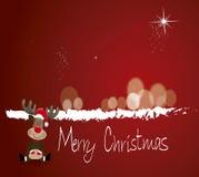 Vrolijke Kerstmis van Rudolph Stock Foto