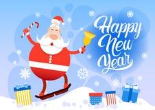 Vrolijke Kerstmis van Santa Claus Happy New Year Holiday Stock Foto's