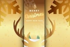 Vrolijke Kerstmis Vectorillustratie Als achtergrond Stock Afbeelding