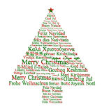Vrolijke Kerstmis in verschillende talen Royalty-vrije Stock Afbeelding