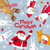 Vrolijke Kerstmis vierkante samenstelling vector illustratie