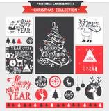 Vrolijke Kerstmis voor het drukken geschikte reeks Stock Foto