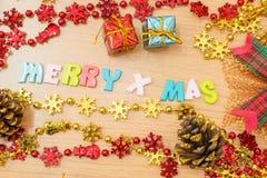 Vrolijke Kerstmisachtergrond Stock Afbeelding