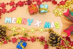 Vrolijke Kerstmisachtergrond Stock Afbeeldingen