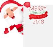 Vrolijke Kerstmisachtergrond met de Kerstman Stock Fotografie