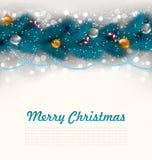 Vrolijke Kerstmisachtergrond met Spartakken Stock Foto's