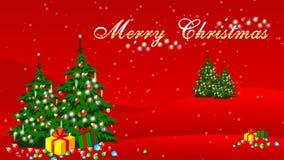 Vrolijke Kerstmisanimatie stock illustratie