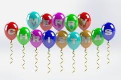 Vrolijke Kerstmisballons Stock Fotografie