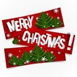 Vrolijke Kerstmisbanners Stock Foto's