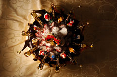 Vrolijke Kerstmiscake Stock Foto