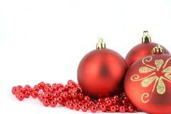 Vrolijke Kerstmisdecoratie Royalty-vrije Stock Afbeeldingen