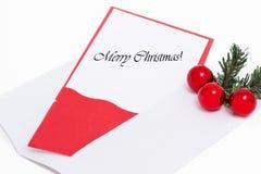 Vrolijke Kerstmisdecoratie Stock Foto's