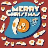 Vrolijke Kerstmiseieren Stock Foto's