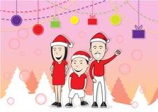 Vrolijke Kerstmisfamilie Stock Fotografie