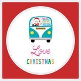 Vrolijke Kerstmisgroet card36 Royalty-vrije Stock Fotografie