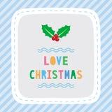 Vrolijke Kerstmisgroet card33 Stock Afbeeldingen