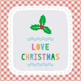 Vrolijke Kerstmisgroet card34 Stock Foto's
