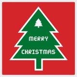 Vrolijke Kerstmisgroet card43 Royalty-vrije Stock Fotografie