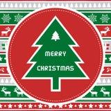 Vrolijke Kerstmisgroet card44 Stock Foto