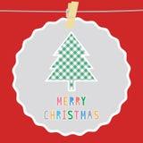 Vrolijke Kerstmisgroet card51 Royalty-vrije Stock Afbeeldingen