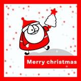 Vrolijke Kerstmiskaart. Royalty-vrije Stock Fotografie