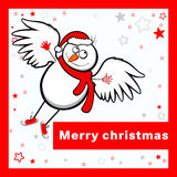 Vrolijke Kerstmiskaart. Stock Foto