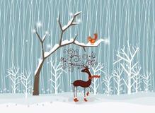 Vrolijke Kerstmiskaart Royalty-vrije Stock Fotografie