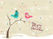 Vrolijke Kerstmiskaart Stock Foto
