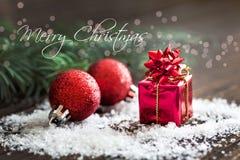 Vrolijke Kerstmiskaart Stock Foto's